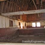 2, Historic Barn interior prior to restoration